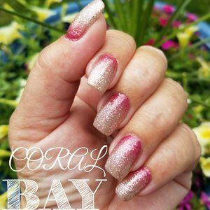 2/25 NEW Color Street Nail Coral Bay Ombre Glitter